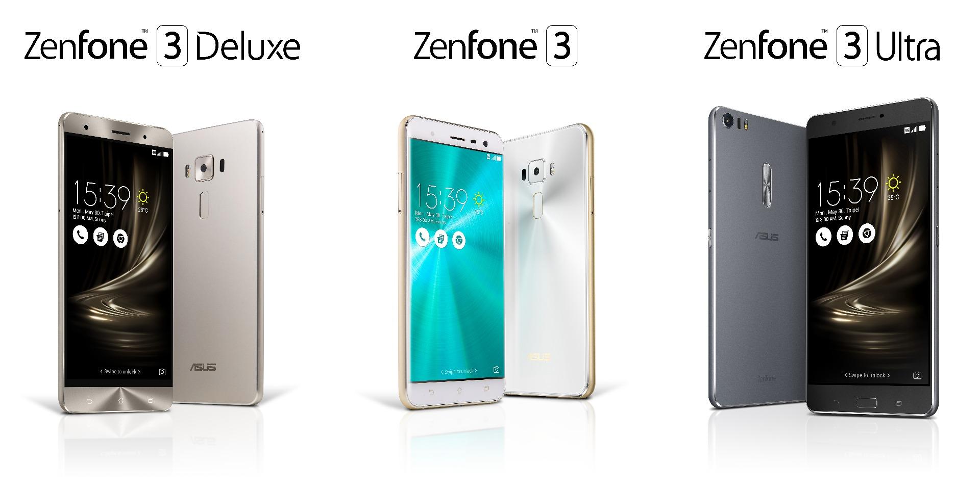 ZenFone 3 / Deluxe / Ultra登場。価格は249ドルから、6GB RAM/ガラスボディ/指紋認証など
